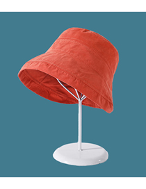 Fashion Orange Big Edge Solid Color Stitching Sunscreen Fisherman Hat
