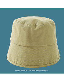 Fashion Avocado Green Pure Color Cotton Sunscreen Rear Split Fisherman Hat