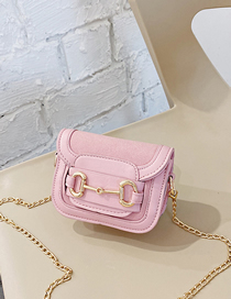 Fashion Pink Childrens Crossbody Shoulder Bag With Chain Flap