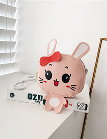 Fashion Pink Bunny Print Kids Crossbody Shoulder Bag