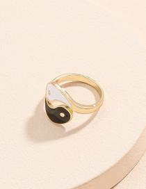 Fashion Gold Color Tai Chi Yin Yang Bagua Opening Ring