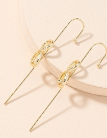 Fashion Bow Ear Hook Butterfly Combined With Gold Piercing Ear Hook