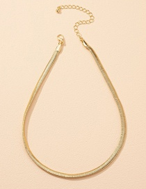 Fashion Gold Color Snake Bone Chain Alloy Necklace