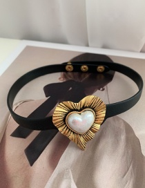 Fashion Necklace Ruffled Real Gold-plated Love Three-dimensional Earrings Necklace