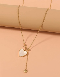 Fashion Golden Love Thin Chain Adjustable Necklace
