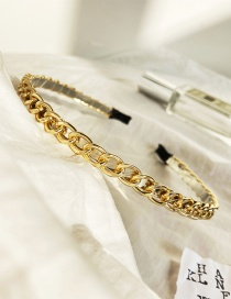 Fashion Golden Hollow Alloy Ccb Chain Thin Side Headband