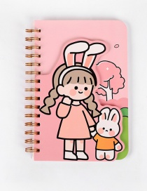 Fashion Pink One Hold Hands 145*210mm Printed Coil Portable Notepad