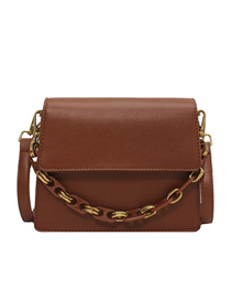 Fashion Yellowish Brown Flap Chain Crossbody Shoulder Bag