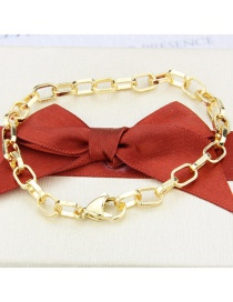 Fashion Gilded Square Chain Gold-plated Copper Bracelet