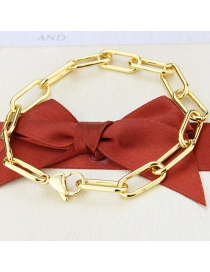 Fashion Gilded Copper Plated Square Chain Bracelet