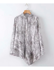 Fashion Animal Pattern Printed Irregular Loose Shirt