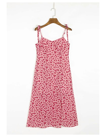 Fashion Pink Daisy Daisy Print Strappy Dress