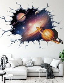 Fashion Planet 2 3d Broken Wall Milky Way Starry Sky Planet Bedroom Children S Room Stereo Wall Stickers