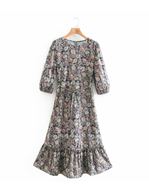Fashion Printing Printed Wide Loose Long Sleeve Dress