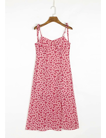 Fashion Printing Flower Print Strapless Dress