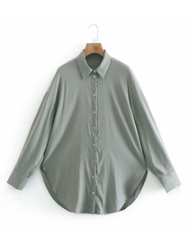 Fashion Photo Color Loose Lapel Single-breasted Shirt Top