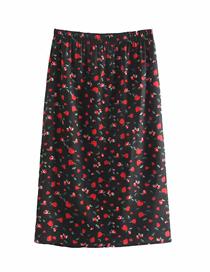 Fashion Photo Color Floral Print Loose Skirt