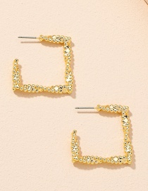 Fashion Gold Color Geometric Irregular Alloy Square Earrings