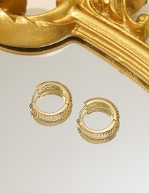 Fashion Gold Color Alloy Round Earrings