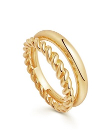 Fashion Number 8 Twist Chain Round Wire Alloy Multilayer Ring