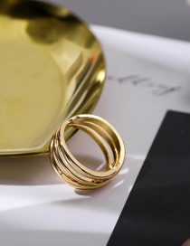 Fashion Number 6 Alloy Wave Hollow Wide Edge Ring