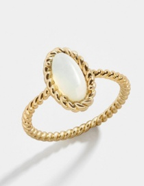 Fashion Number 8 Oval Opal Alloy Ring