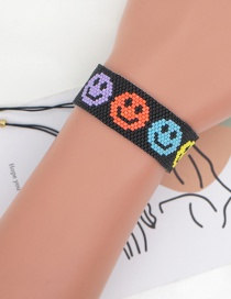 Fashion Smiley Smiley Beaded Rice Beads Hand-woven Bracelet
