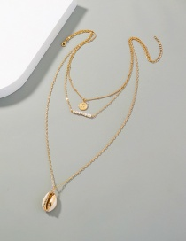 Fashion Shell Shell Pendant Pearl Multilayer Necklace