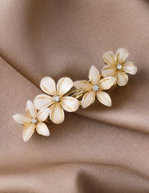Fashion Gold Color Crystal Petals And Diamond Alloy Hairpin
