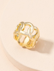 Fashion Golden Color Chain Buckle Cross Men S Ring