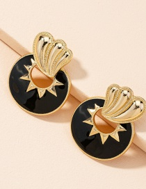 Fashion Golden Color Alloy Dripping Geometric Earrings