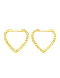 Fashion Gold Color Gold-plated Copper Heart Hollow Earrings