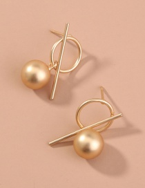 Fashion Gold Color Metal Matte Geometric Alloy Hollow Earrings