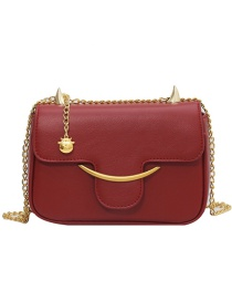 Fashion Peace And Joy Chain Horns Flap Diagonal Shoulder Bag