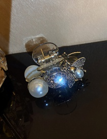 Fashion Milky Little Bee Pearl Clip