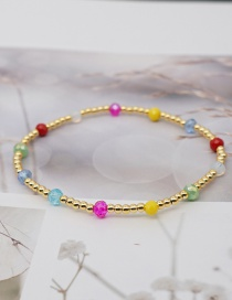 Fashion Color Gold Plated Beaded Bracelet