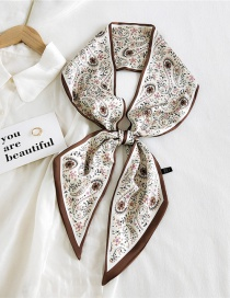 Fashion 17 Waist Flower Lily Of The Valley Rice Thin And Long Double-sided Printed Silk Scarf