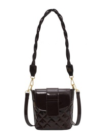Fashion Brown One-shoulder Lacquered Crossbody Bag