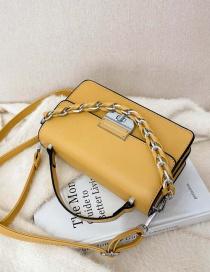 Fashion Yellow Hand Chain Square Shoulder Messenger Bag