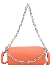 Fashion Orange Chain Diagonal Shoulder Bag