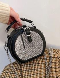 Fashion Black Diamond Crossbody Mini Chain Shoulder Handbag