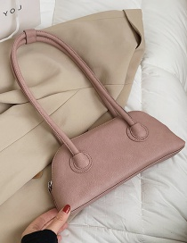 Fashion Pink One-shoulder Underarm Shell Bag