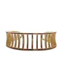 Fashion Color Zirconium Adjustable Bracelet Yh Geometric Copper Adjustable Bracelet