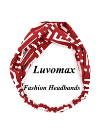 Fashion Red Cross Letter Headband
