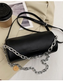 Fashion Black Candy Color Chain Underarm Bag