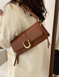 Fashion Brown Shoulder Crossbody Bag With Wide Underarm Straps