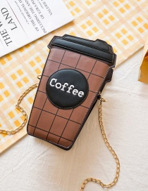 Fashion Coffee Color Coffee One-shoulder Messenger Bag