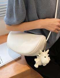 Fashion White Candy Color One-shoulder Crossbody Bag