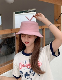 Fashion Pink Bean Sprouts Sunscreen Uv Fisherman Hat