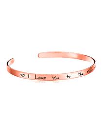 Fashion Rose Gold Alphabet Bracelet